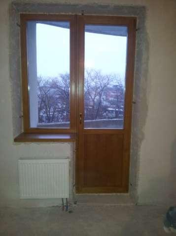 Деревянные балконные двери из евро бруса