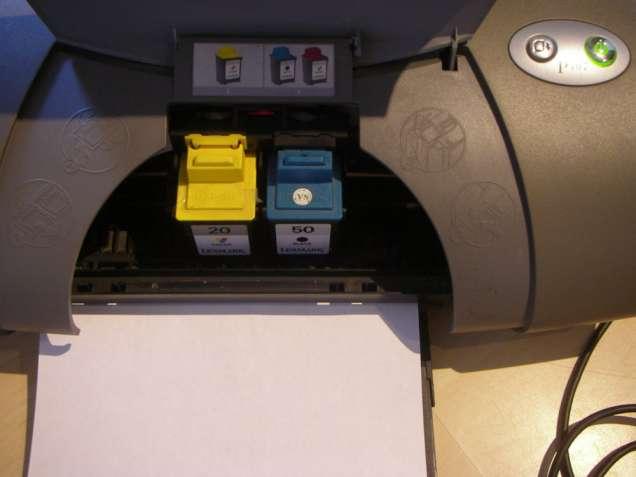 Цветной струйный принтер б/у Lexmark Color Inkjet Printer P707.