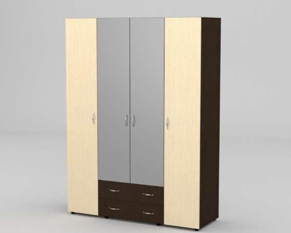 Четырехдверный Шкаф 7 с зеркалом.В наличии