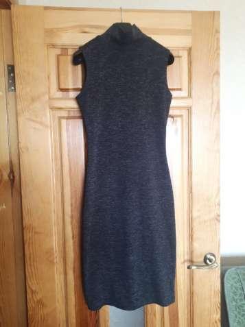 Платье безрукавка, приталенное + накидка с поясом