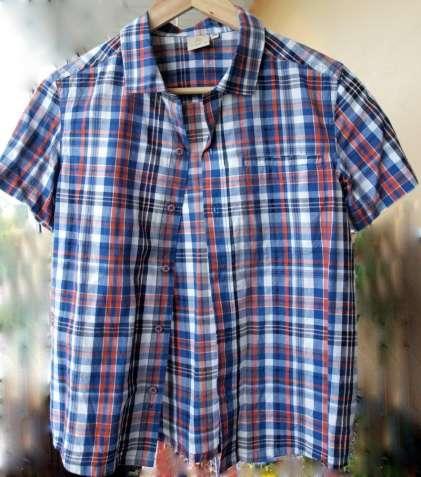 Фирменная летняя рубашка Outventure на стройного мальчика 10-12 лет