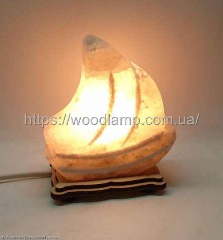 Соляной светильник Кораблик маленький 3д, лампа, ночник
