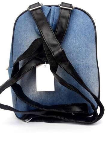 Джинсовый удобный лёгкий рюкзак ,с нашивками ,восточный