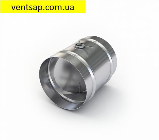 Дроссель - клапан, круглый -  Ф125, оцинковка 0,5мм, вентиляция.