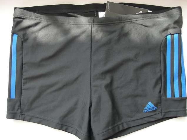 Плавки-боксеры Adidas INFINITEX+ (Черные с синими полосками)