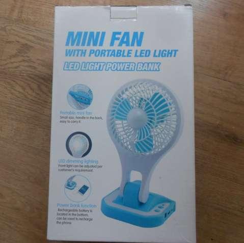 вентилятор mini Fan c Led подсветкой и Power Bank
