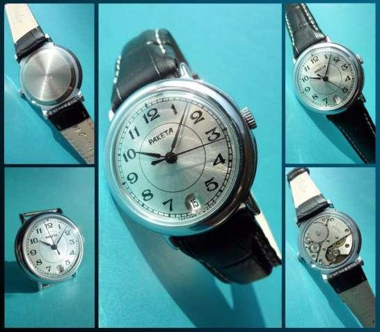 НОВЫЕ! часы «РАКЕТА» сделаны в СССР с ПАСПОРТОМ и коробочкой  наручные