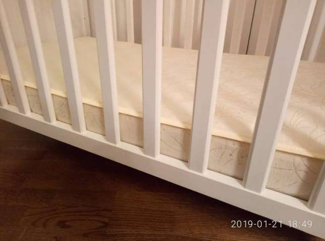 Детская кроватка ИКЕЯ СУНДВИК+матрас