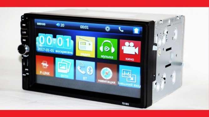 "2din Pioneer 7018G GPS Магнитола 7"" Экран + AV-in + пульт"