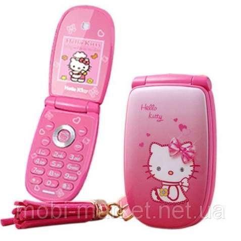Телефон-раскладушка Hello Kitty W88 mini 1 сим,2 дюйма,2 Мп,Брелок в п