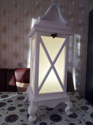 Деревянный фонарь, светильник, для фотостудии, предмет интерьера.