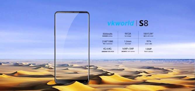VKworld S8 5500 мАч Quick charge 5,99 FHD 4|64 16|5|13