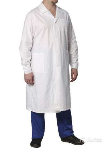 Халат медицинский бязевый, мужской женский,медицинская одежд