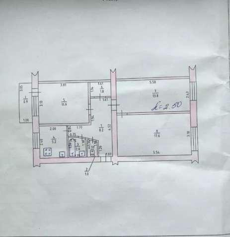 Обменяю 3-х комнатную квартиру на ХБК