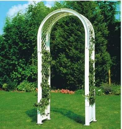 Садовая арка для вьющихся растений белая №4707