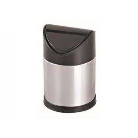 0136-T Корзина з поворотною пластиковою кришкою, метал, 17 л