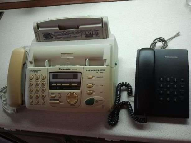 Телефон-факс Panasonic KX-FP155 и телефон Panasonic KX-TS2350UAB
