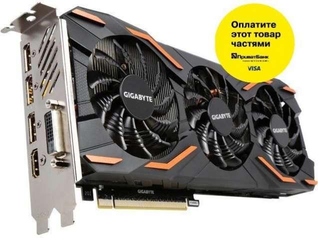 Видеокарта Gigabyte GTX1080 Windforce OC 8GB GDDR5X 256bit Б/У