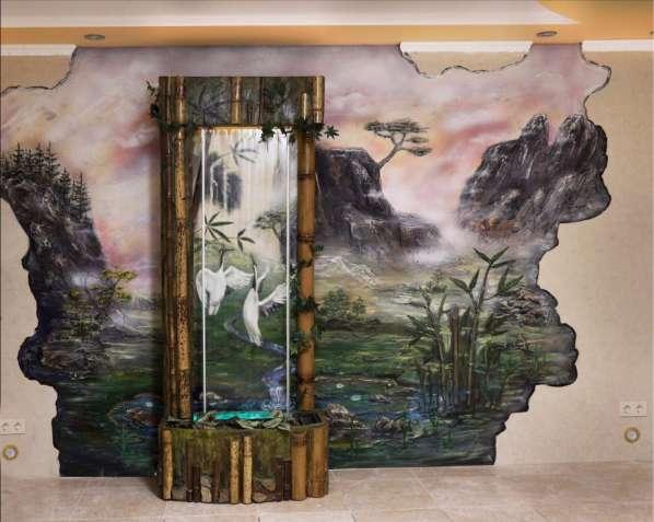 Водоспад по склу в інтер'єрі від дизайн студії Романа Москаленка - изображение 10