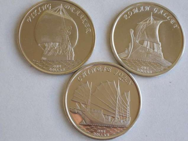 Набор монет Парусники 2019