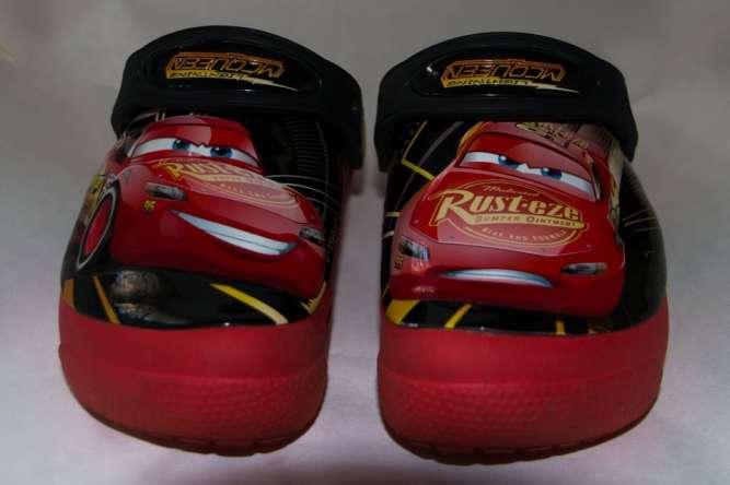 Светящиеся кроксы Crocs Молния Маккуин (Lightning McQueen). Оригинал